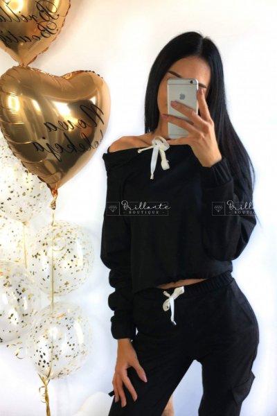 Zamszowy dres black
