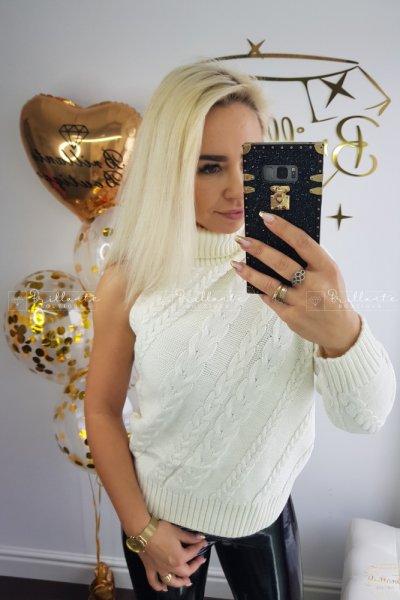 Sweterek one arm white