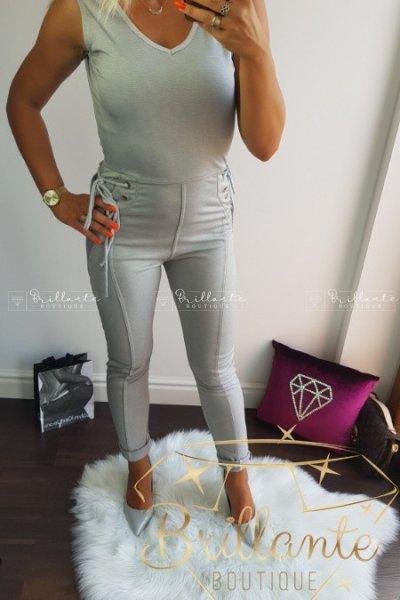 Kombinezon Sznurowany Gold Straps Overalls Grey