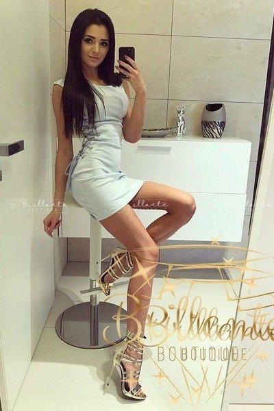 Sukienka Gold Straps Dress Błękitna