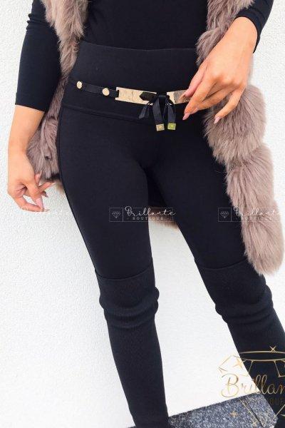 Spodnie ocieplane z klamrą