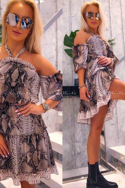 Sukienka z wężowym printem