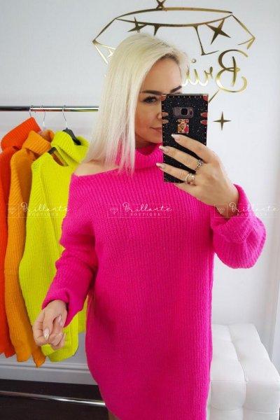Sweterek SEXY ARM malina