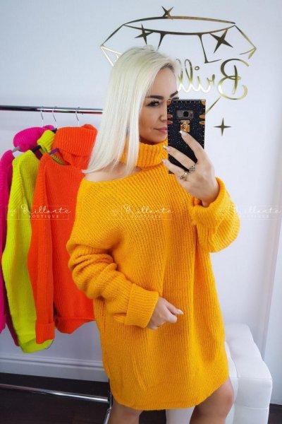 Sweterek SEXY ARM mandarynka