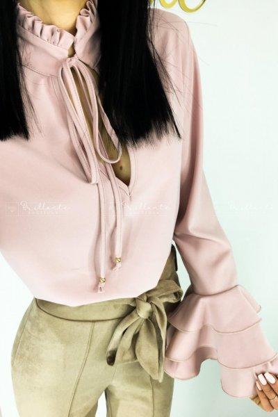 Wiązana bluzka DABBIE rose