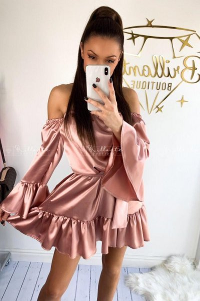 Sukienka SATIN rose