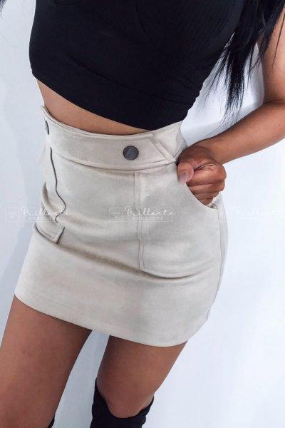 Zamszowa spódniczka ROYAL beige