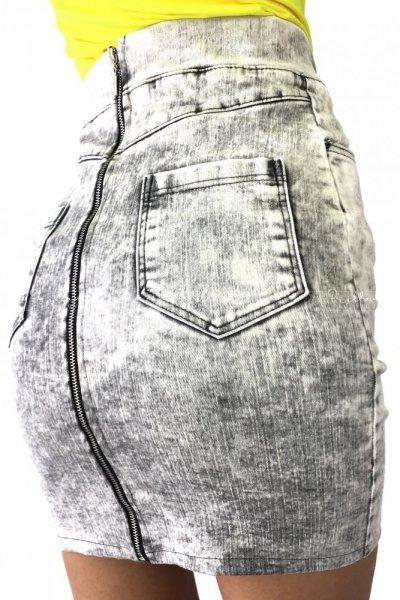 Spódnica jeans zip grey