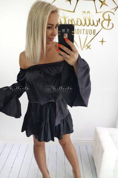 Sukienka SATIN black