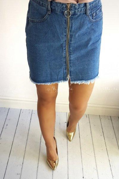 Spódnica jeans zip