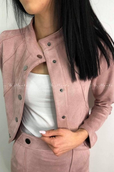 Zamszowa kurtka ROYAL pink