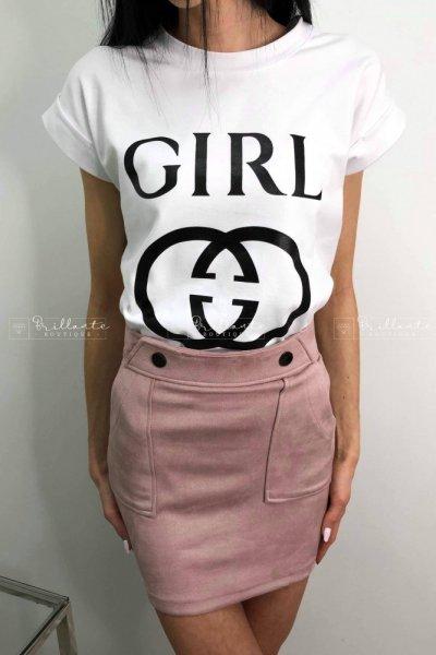 Zamszowa spódniczka ROYAL pink