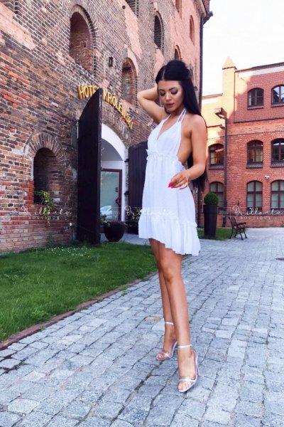 Sukienka SPARKLING biała