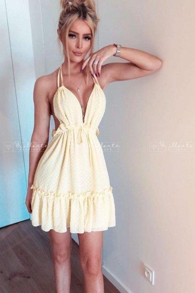 Sukienka SPARKLING żółta