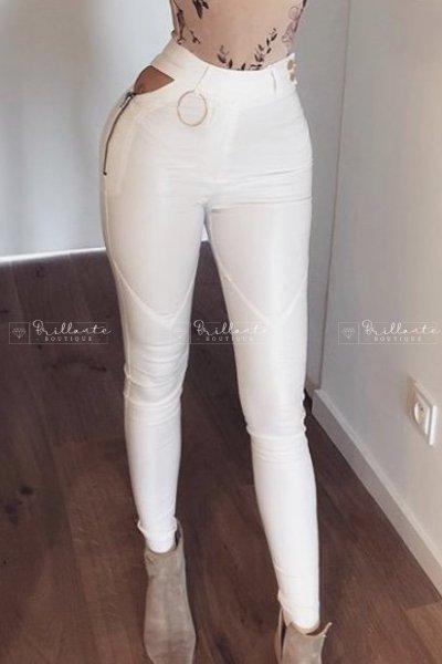 Spodnie LAY LOW ecru