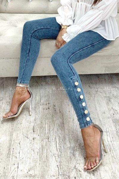 Legginsy buttons ala jeans