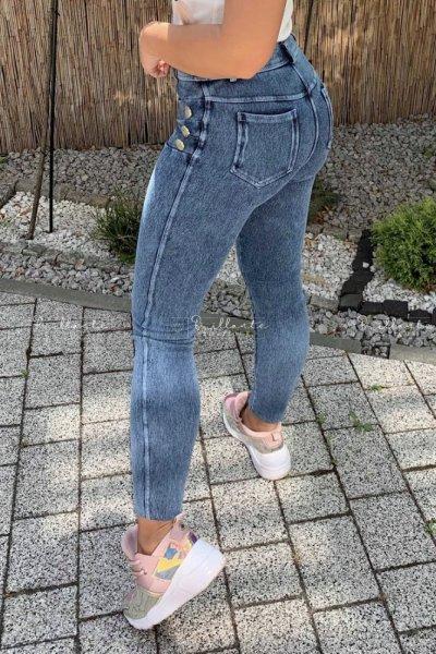 Legginsy Złote guziki jeans