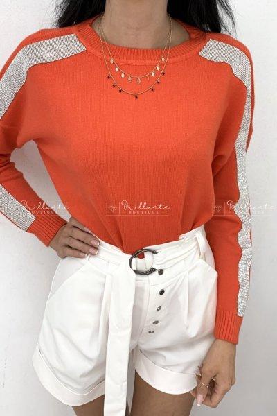 Pomarańczowy sweterek sparkling