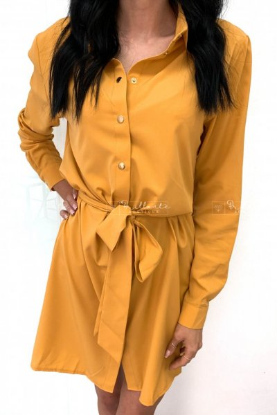 Street dress musztarda
