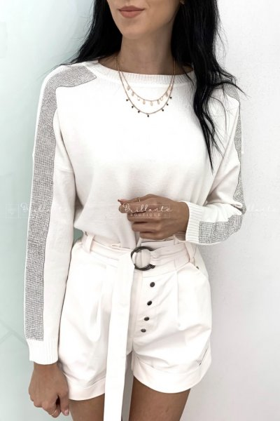 Biały sweterek sparkling