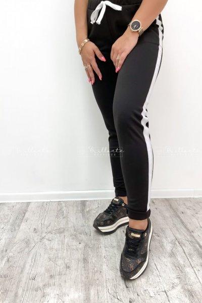Spodnie z lampasem black