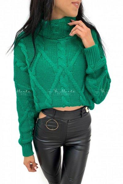 Sweter velvet zielony