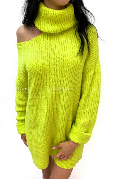 Sweterek SEXY ARM limonka