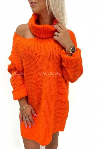 Sweterek SEXY ARM pomarańcz