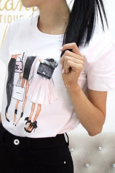 Tshirt chanel white