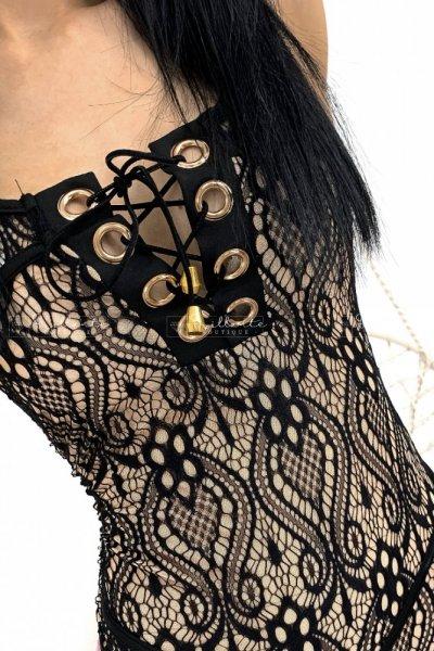 Body koronkowe black