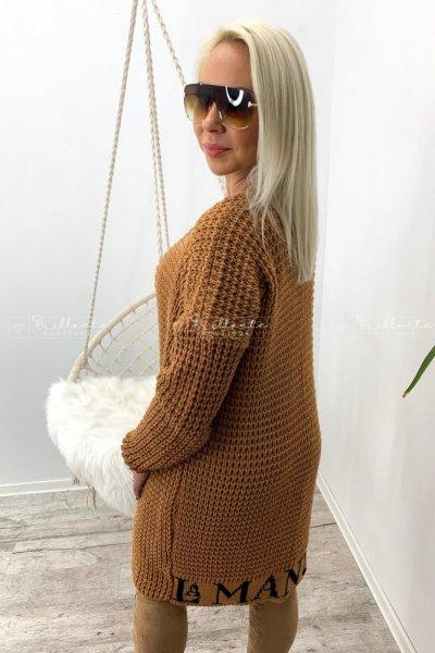 Gruby sweterek/kardigan polskiego producenta La Manuel