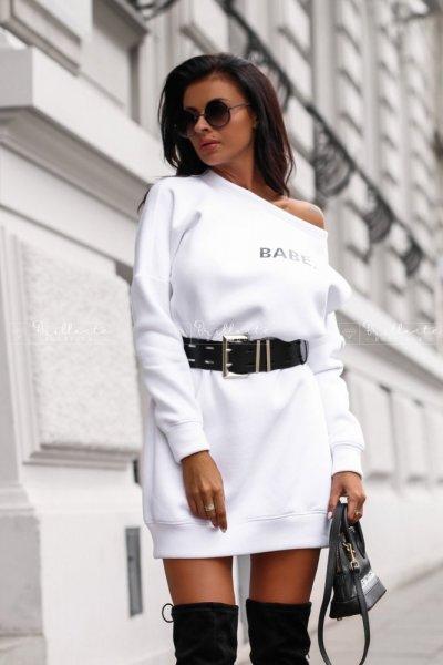 Bluza tunika Babe biała