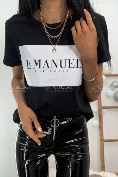Tshirt LA MANUEL THE LABEL czarny