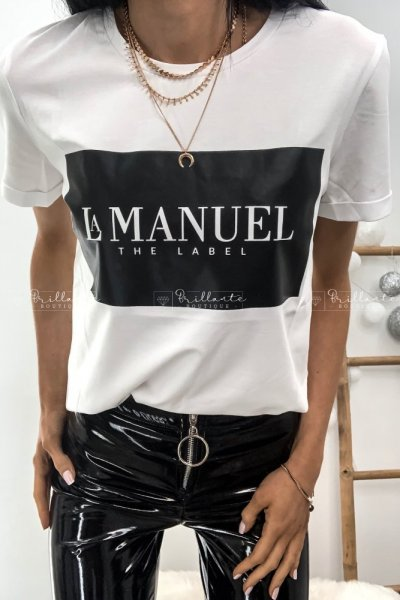 Tshirt LA MANUEL THE LABEL biały