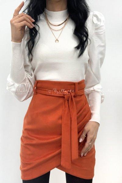 Zamszowa spódnica ILA orange