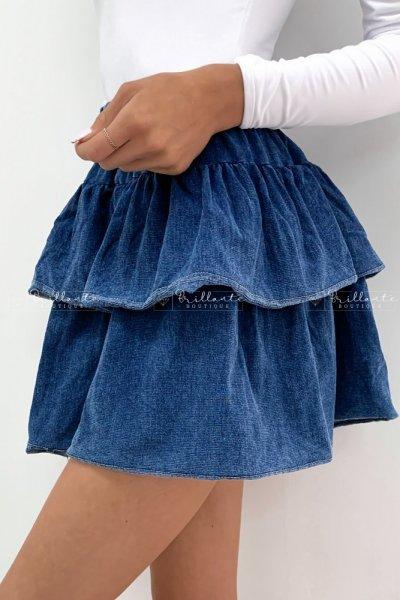 Spódniczka z falbankami jeans