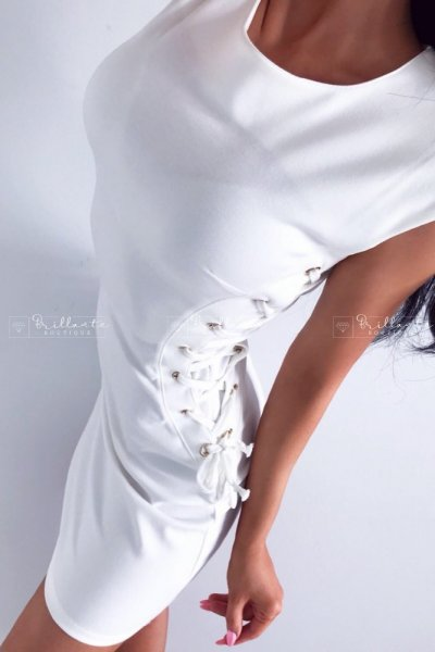 Sukienka Gold Straps Dress Biała