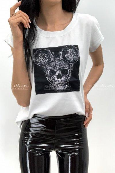 Tshirt Czaszka biała