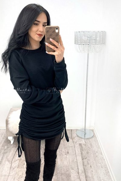 Oversizowa sukienka ze ściągaczami czarna