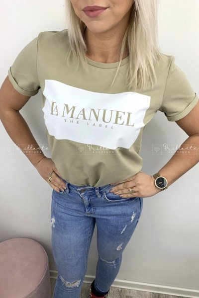 Tshirt LaManuel oliwkowy