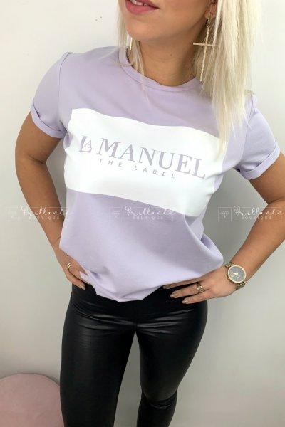 Tshirt LaManuel liliowy