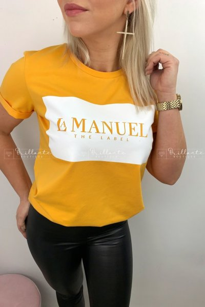 Tshirt LaManuel żółty