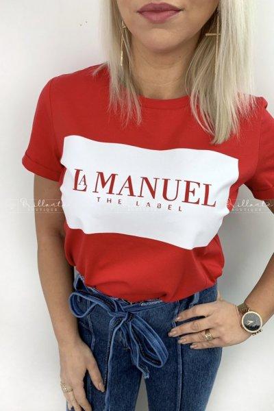 Tshirt LaManuel czerwony