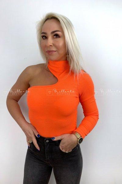 Body neon na jedno ramie orange